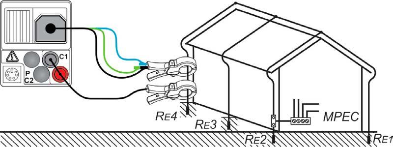 измерение сопротивления заземления без использования штырей